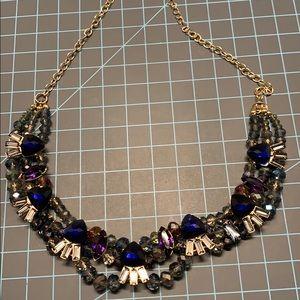 Old Navy Beaded Goldtone Choker Necklace